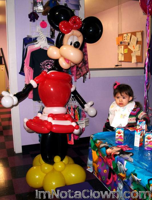 She just visited Disneyworld, so for her Birthday, her parents got Minnie to visit her.