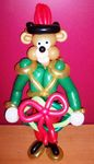 Balloon Christmas Drummer Bear