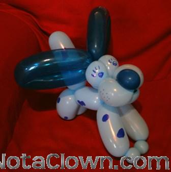 Blue Balloon Puppy Dog