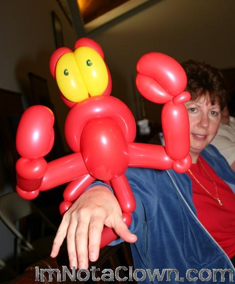 CRAB! Phew, it's just a balloon.