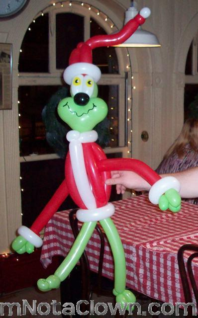 You're a mean one! Balloon Grinch.