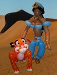 Birthday Balloon Princess Jasmine and Raja (Her Tiger)