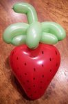 A simple Balloon strawberry
